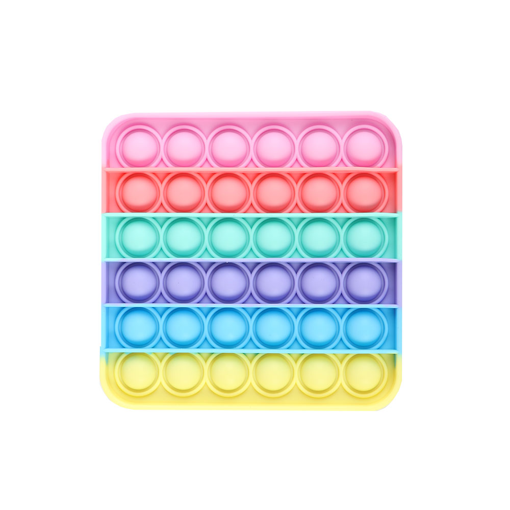 Square Bubbles To Relax And Relieve Tension From Silicon In Rainbow Colors متجر 15 وأقل