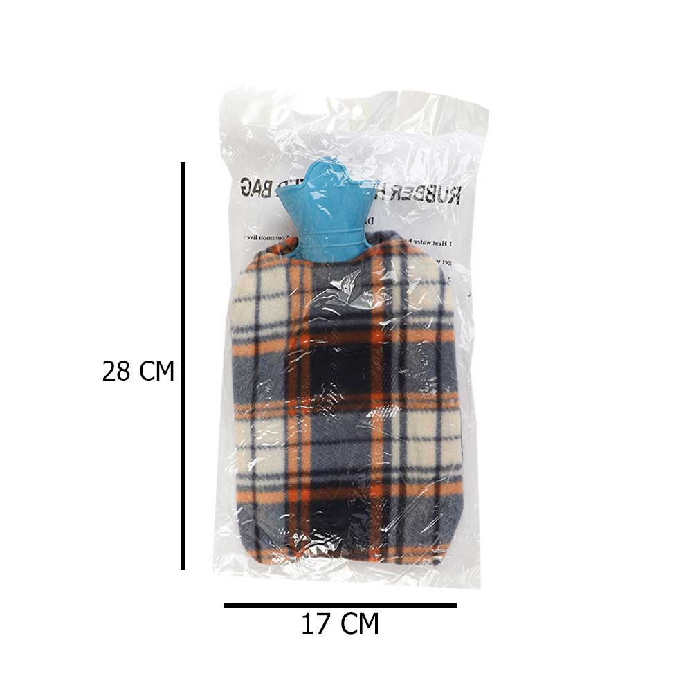 Hot Water Bag With Cover Of Carohuas Fabric With Multi Colors متجر 15 وأقل