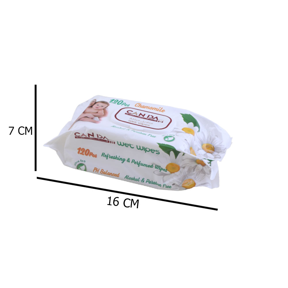Wet Tissues 120 Pcs Chamomile Scented متجر 15 وأقل