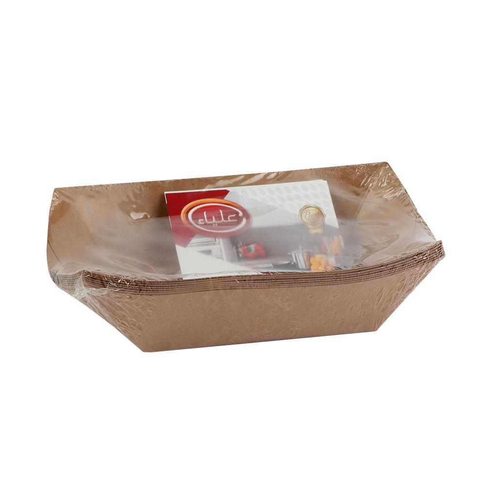 Medium Alya Kraft Paper Dishes 8 Pcs Brown متجر 15 وأقل