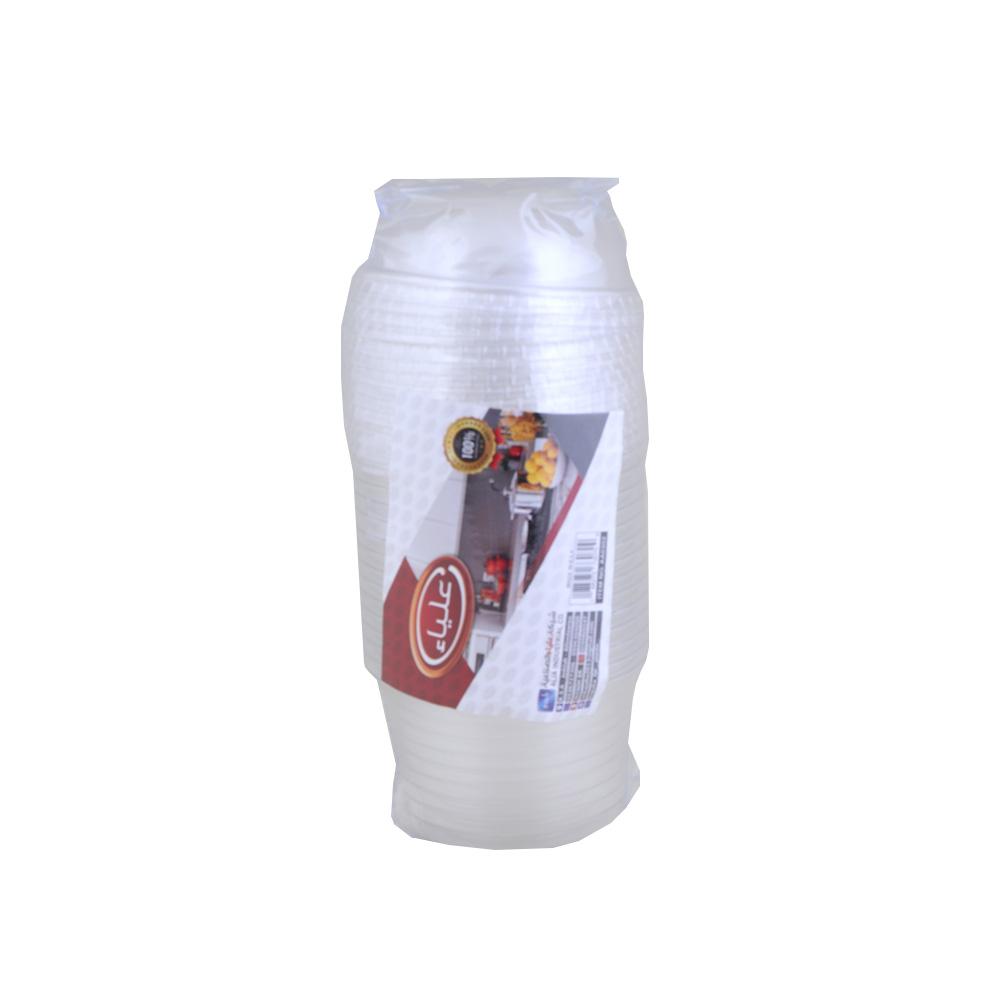 طقم علب ايسكريم بلاستيك شفاف بغطاء 200 مل 13قطعة - علياء متجر 15 وأقل