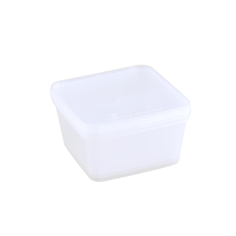 علب مايكرويف بلاستيك مربعة شفافة 2000 جرام 3 قطع - علياء متجر 15 وأقل
